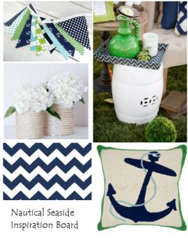 Green and Lime Nautical Themed Inspiration Board